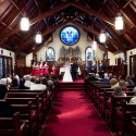 Wedding ceremony in St Peter's Chapel - photo by DB photography