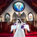 Bridal portrait at St Peters Chapel - photo by David Ball